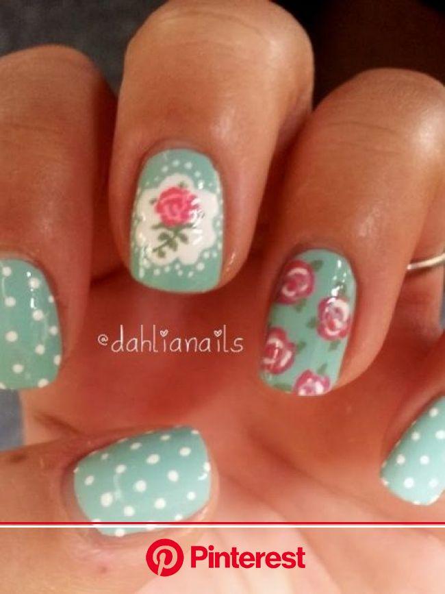 Cath Kidston Nails | Cath kidston nails, Vintage nails, Floral nails