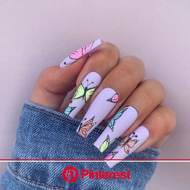 Ongle ballerine avec nail art papillon - tuto complet | Drip nails, Edgy nails, Kylie nails
