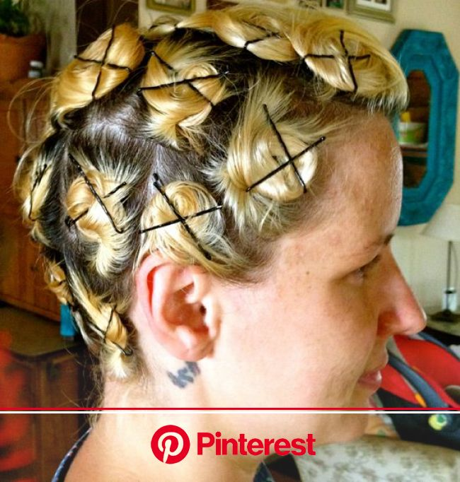Create Some Retro Fingerwaves With Barrel Pin Curls How To Curl Short Hair Hair Styles Long Hair Styles Clara Beauty My