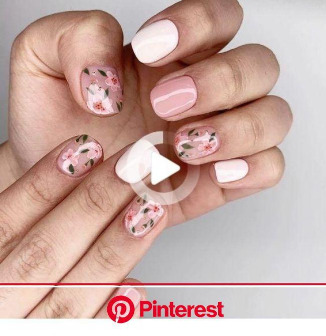 Pin on Accessory | Cherry blossom nails, Cherry blossom nails art, Fall nail art designs