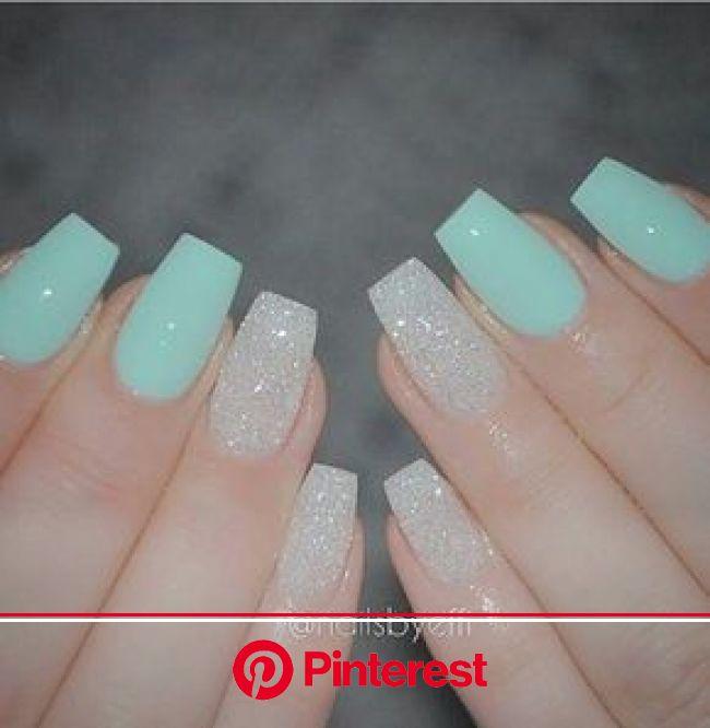 Blue And White Sparkle Cute Acrylic Nails Pretty Acrylic Nails Trendy Nails Clara Beauty My