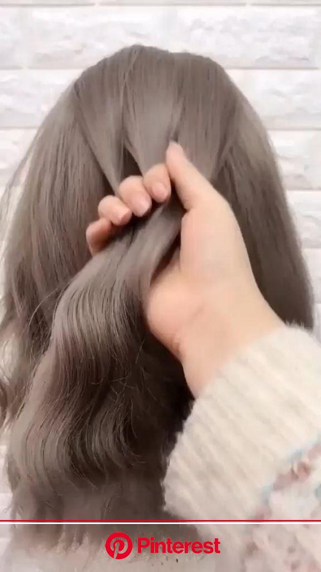 Simple Hairstyle Cute Hairstyle Idea Tutorial Video In 2020 Short Hair Styles Hair Styles Easy Hairstyles Clara Beauty My
