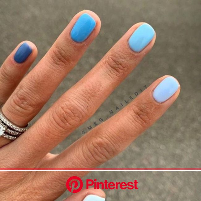Everything You Need to Re-Create the Buzzy Gradient Nail-Art Trend From Instagram | Dipped nails, Powder nails, Gel nails
