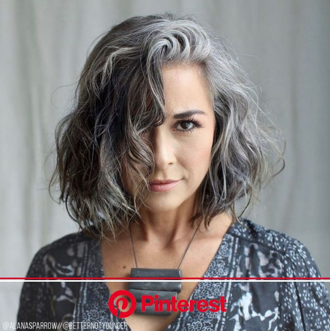 The Latest Hair Trend On Instagram - #Grombre in 2020 | Gray hair highlights, Grey hair inspiration, Transition to gray hair