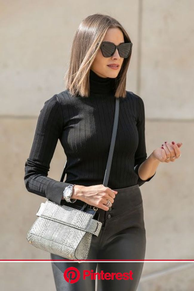 Lovely Ladies in Leather: Olivia Culpo in leather pants | Short hair haircuts, Olivia culpo hair, Shoulder length hair