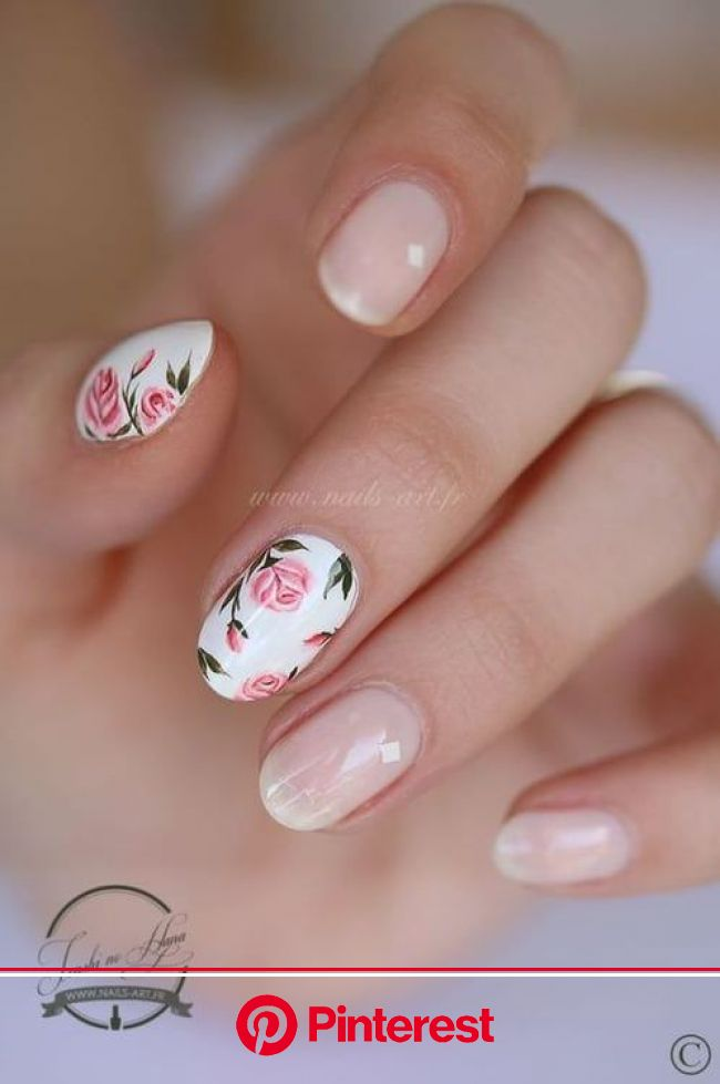 21 Fresh And Fabulous Nail Art Designs Just In Time For Spring | Rose nail art, Rose nails, Floral nails