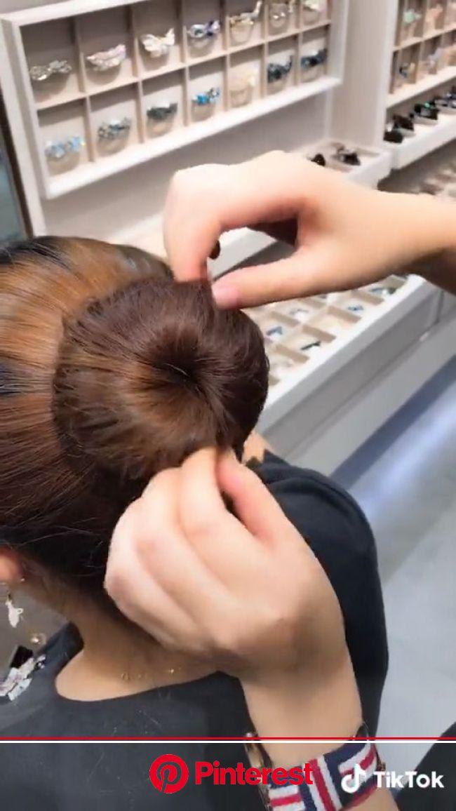 #diy #ballet #bun #tiktok [Video] (With videos) | Ballet hairstyles, Hair braid videos, Long hair styles