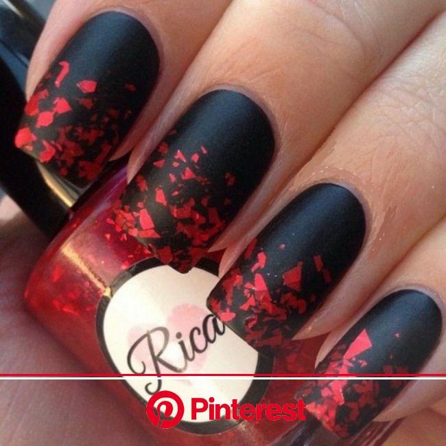 How to Do Ombre Nail Art at Home | Nail art, Black nail designs, Nail designs valentines
