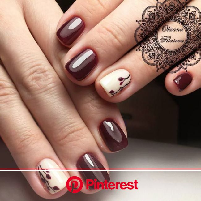 30+ Dazzling Ideas For Maroon Nails Designs | Maroon nail designs, Maroon nails, Trendy nails