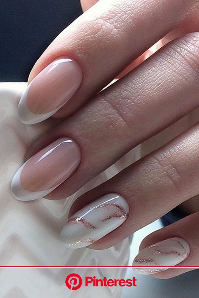 30 Perfect Pink And White Nails For Brides | Wedding Forward | Unghie semplici ed eleganti, Unghie tonde, Unghie