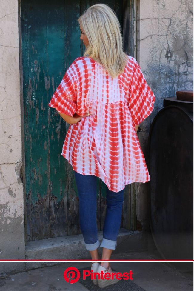 Addicted To Love Bohemian Tie Dye Tunic ~ Orange ~ Sizes 4-10 | Tie dye tunics, Boutique style outfits, Trendy boutique clothing