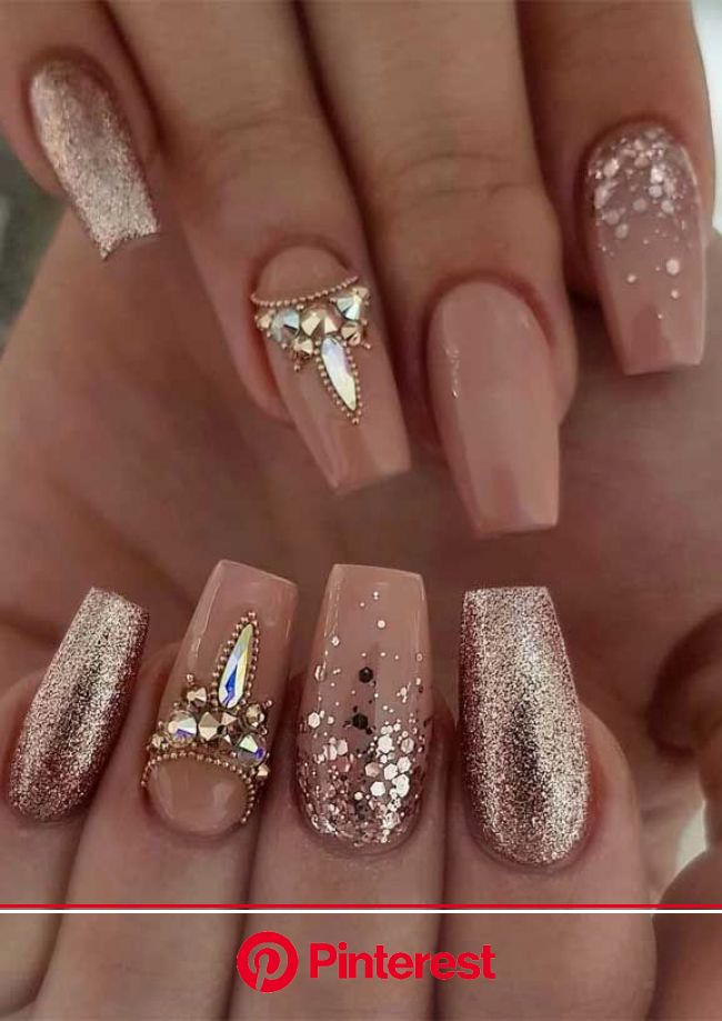 The best nail art designs for spring in 2020 | Rhinestone nails, Coffin nails designs, Wedding nails design