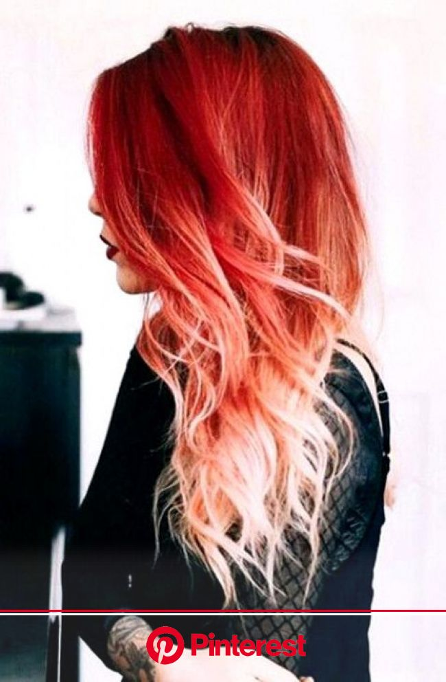 15 Gorgeous Red Ombre Hair Ideas for Fiery Ladies | Red ombre hair, Ombre hair blonde, Fire ombre hair