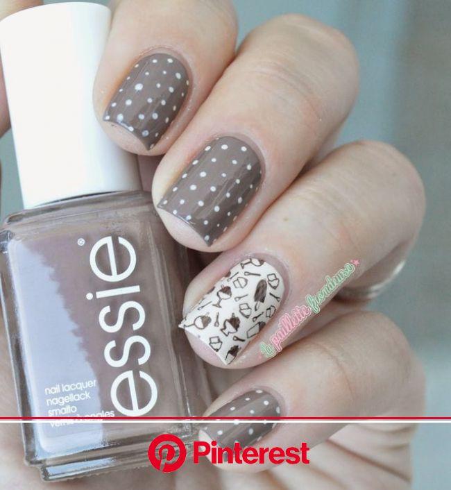 Nailstorming #77 // Chocolate ! (La paillette frondeuse) | Manicura de uñas, Estampado de uñas, Diseños de uñas mariposas