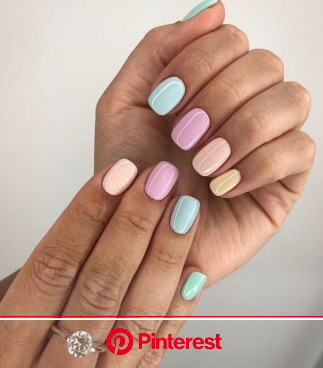 The unexpected manicure trend everyone is loving right now | Nails inspiration, Nails, Rainbow nails