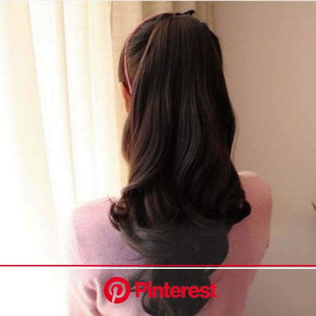 Imitation Nature Black Slightly Curled Ponytail,Priced At Only US$2.54 | Curly hair styles naturally, Hair styles, Curly hair styles