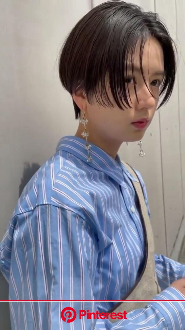 「カットラインハンサムショート|名古屋の美容室BUDDY HAIR amour (バディヘア アムル)スタイリスト塩出 裕規の髪型・ヘアスタイル・ヘアカタログ|LALA[ララ]」[動画]【2021】 | ショートのヘアスタイル, ハンサムショート, 韓国のショートヘア