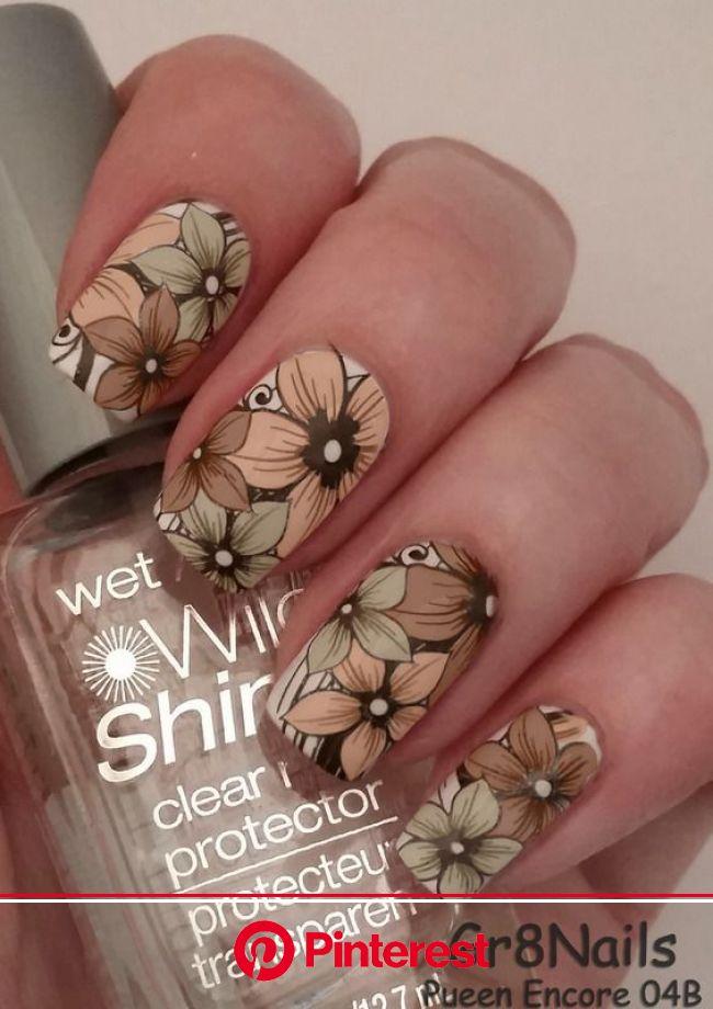 Fall Floral   Nail art by Gr8Nails (Gr8NailArt)   Floral nail art, Floral nails, Flower nails