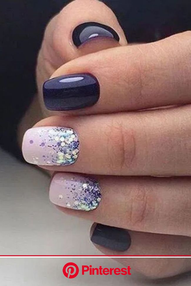 50+ Gorgeous February Nail Designs & Trends | in 2020 | Nail designs glitter, Winter nail art, Winter nails