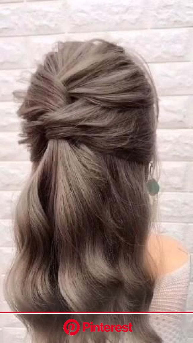 Burgundy Color Wavy Hair. [Video] in 2020 | Hair styles, Long hair video, Hair videos