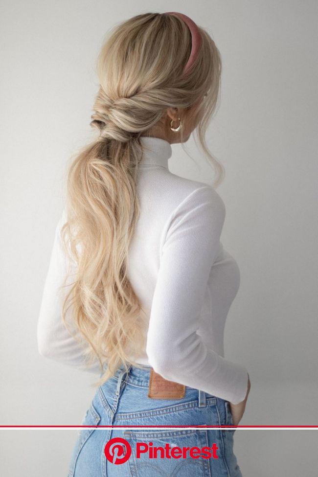 pretty ponytail hairstyle in 2020 | Fall hair trends, Long hair styles, Medium length hair styles