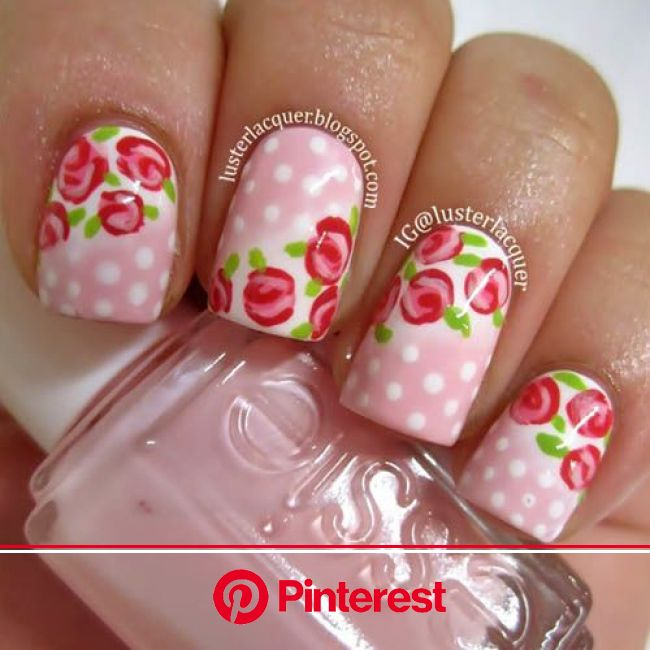 9 Simple and Easy Flower Nail Art Designs for Beginners | Floral nail art, Flower nail designs, Floral nails