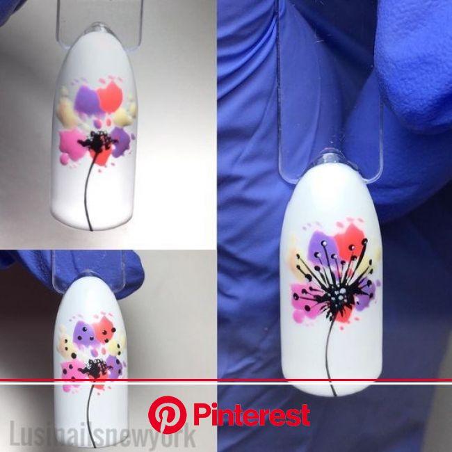 Акварельные идеи (с изображениями) | Цветочные ногти, Уроки нейл-арта, Дизайнерские ногти
