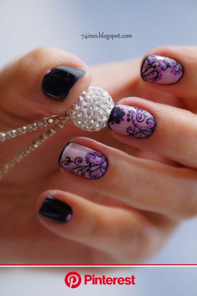 InesWorld: What If You | Nail art, Wzory do malowania paznokci, Fioletowe paznokcie