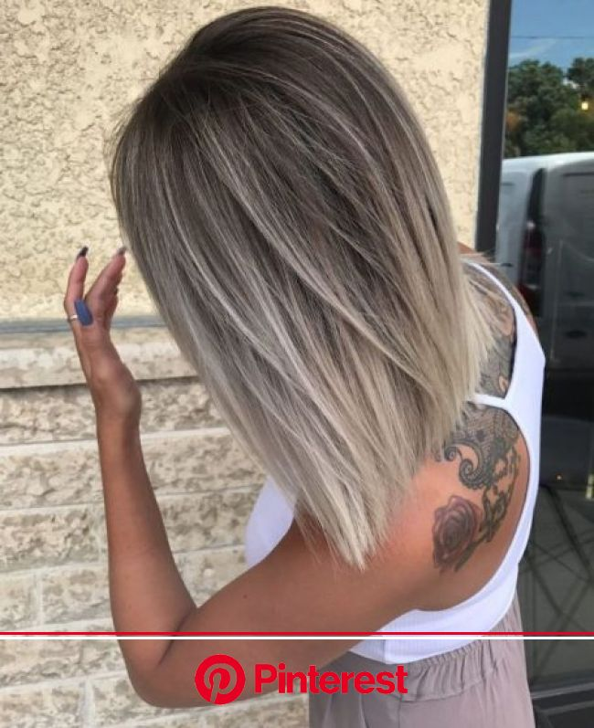 60 Shades of Grey: Silver and White Highlights for Eternal Youth | Blonde haircuts, Balayage hair, Medium hair styles
