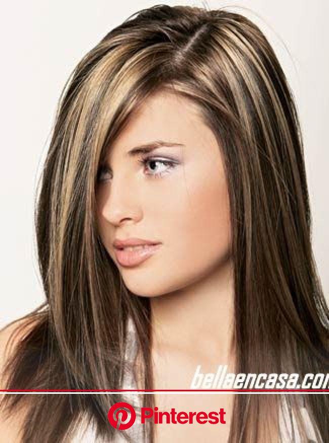 Mechas y rayos en el cabello con la técnica estrella | Pelo con mechas, Cabello con rayitos, Mechas cabello