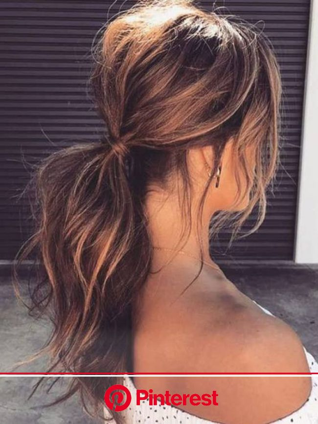 30+ Ways to Style Brown Medium Hair: Stunning Medium Length Hairstyles | Medium length hair styles, Messy ponytail hairstyles, Diy hairstyles easy