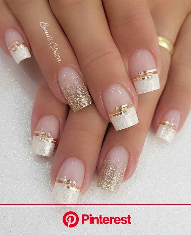 Newest Photo bridal Nail Art Glitter Strategies With outfits, locks plus shoes, another modern product is ac… | Romantic nails, Bride nails, Pretty na