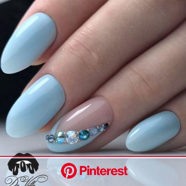 Nail Art #3645 - Best Nail Art Designs Gallery | BestArtNails.com | Elegant nails, Blue nails, Trendy nails