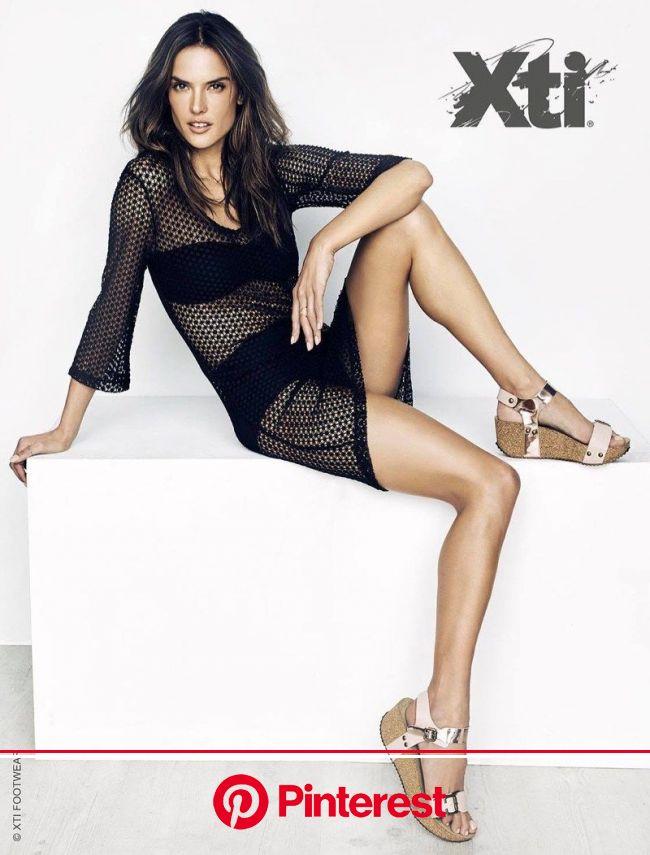 Alessandra Ambrosio Smolders in XTI Shoes' Spring 2016 Ads | Alessandra ambrosio, Alessandra, Fashion