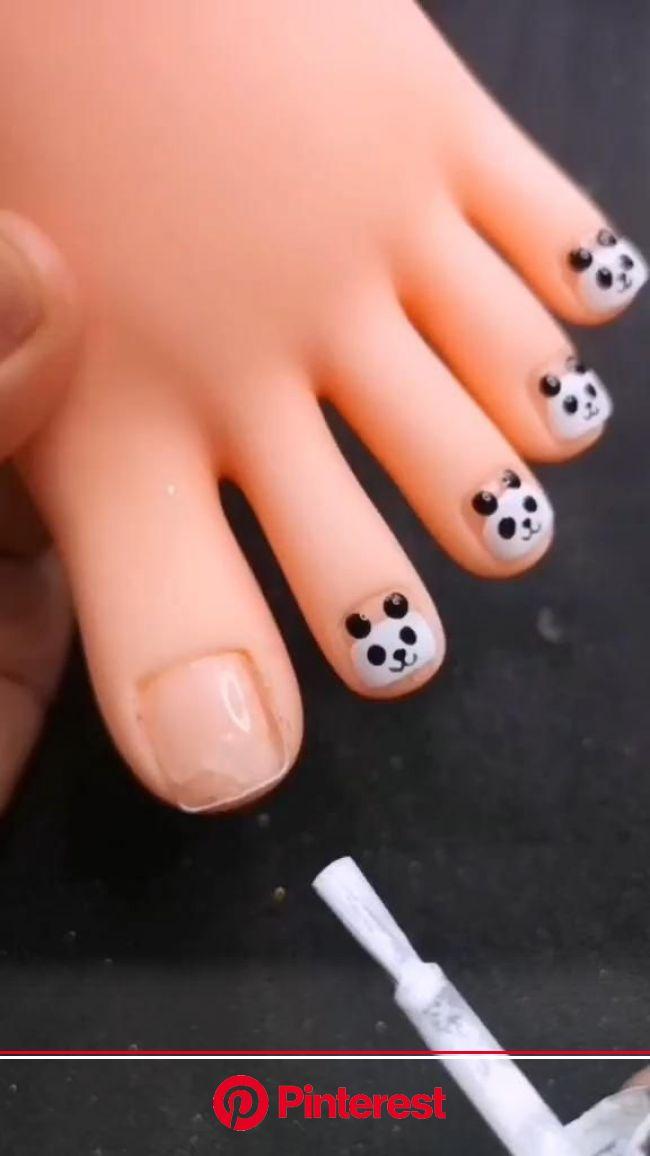 Trendy Toes Nails Art Ideas 2020 [Video] | Manicura de uñas, Como hacer uñas esculpidas, Pinceles para uñas
