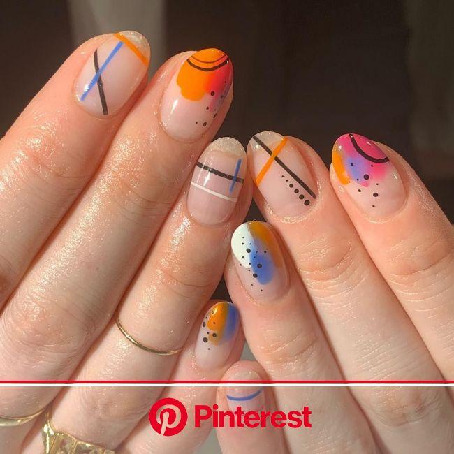 dearra nails | Retro nails, Gel nails, Minimalist nails