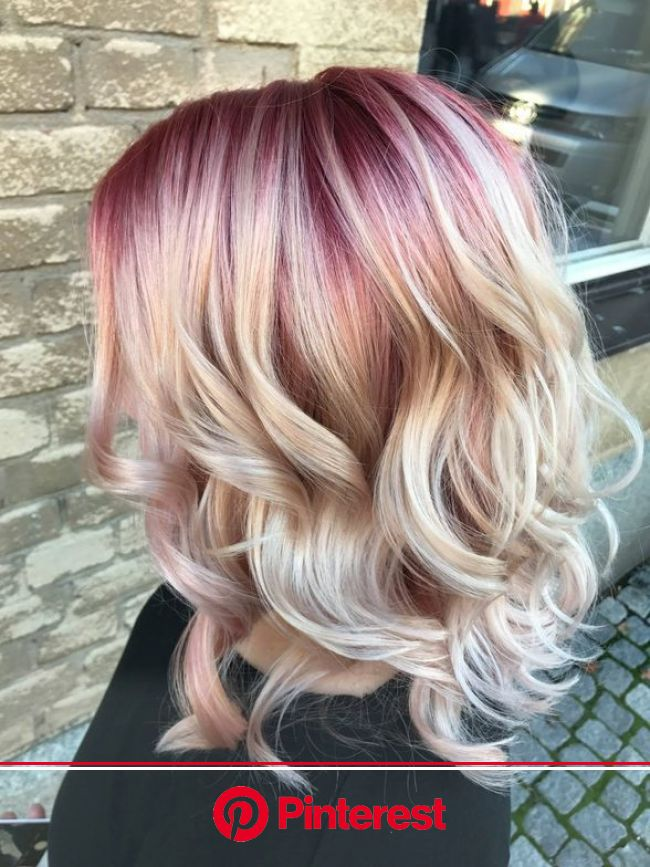 HOW-TO: Rose Gold Color Melt in 2020 | Color melting hair, Blonde hair with roots, Rose gold hair blonde