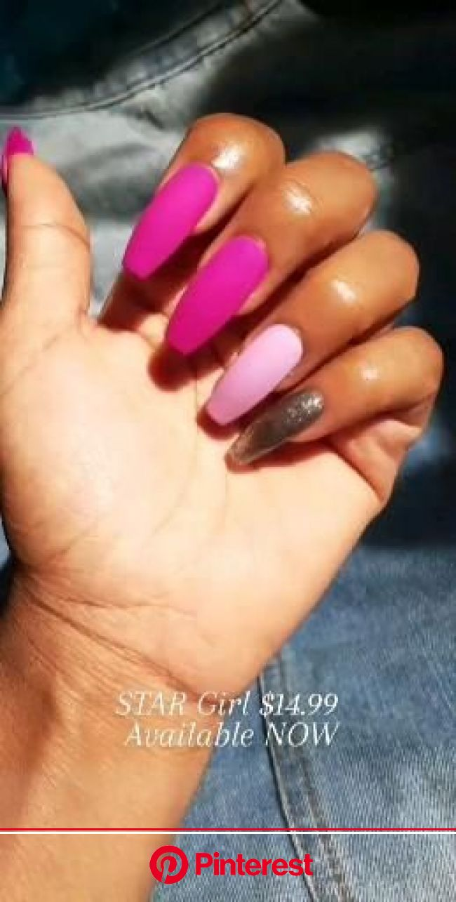 Press on nail design [Video] | Bright pink nails, Short acrylic nails designs, Cute pink nails