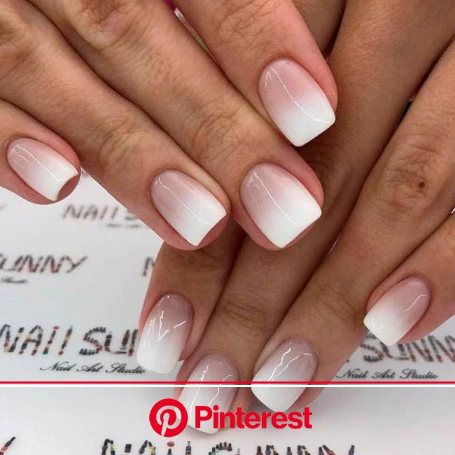 Best Ideas How To Do Ombre Nails Designs + Tutorials in 2020 | Faded nails, French fade nails, Ombre nails tutorial