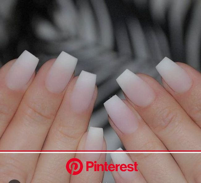 76+ Hottest Nail Design Ideas for Spring & Summer 2020 | Pouted.com | French tip acrylic nails, French acrylic nails, Square acrylic nails
