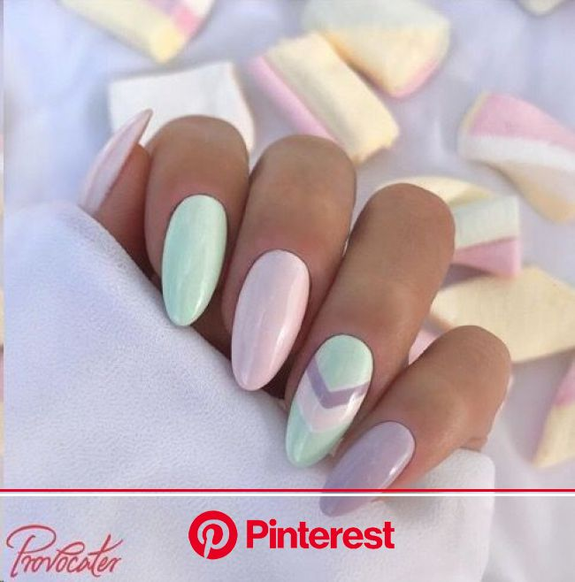Easter Acrylic Nails  #nailart #easternails | Mint nails, Nails, Gel nails