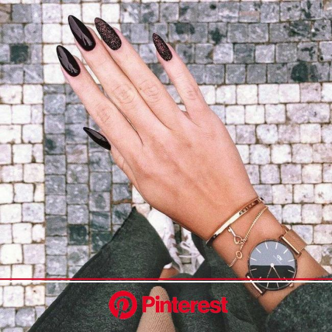 47 trends for decorated nails 2019 - landofnail. com | Dark nail designs, Manicure, Trendy nails