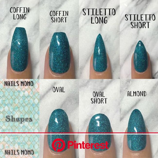 Press On Nails Sizing Pack - Full Cover Blank Nails - Ready To Ship! in 2021 | Types of nails shapes, Short acrylic nails, Acrylic nail shapes