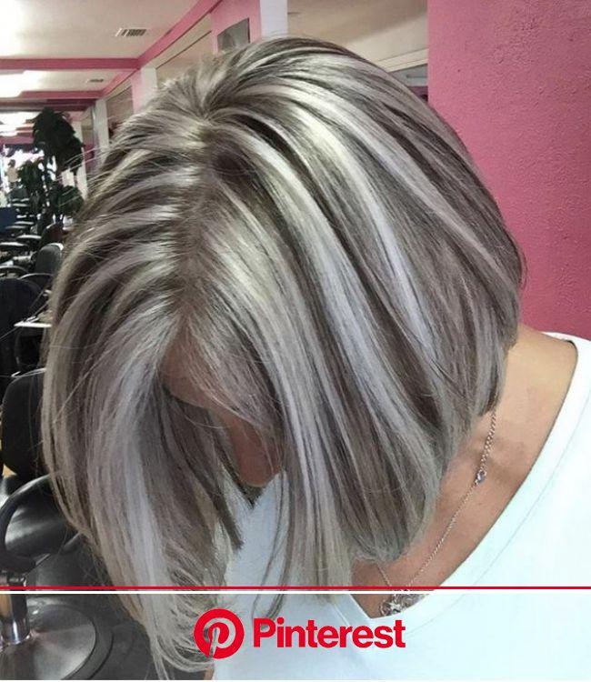 62 peinados perfectos cabello hasta los hombros - Welcome to Blog en 2020 | Cabello corto plateado, Mechas cabello corto, Cabello rubio con mechas