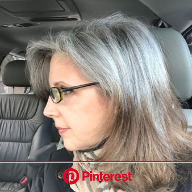Joni's Grey Hair Transition: The 18 Month Journey! | Katie Goes Platinum | Transition to gray hair, Blending gray hair, Short white hair