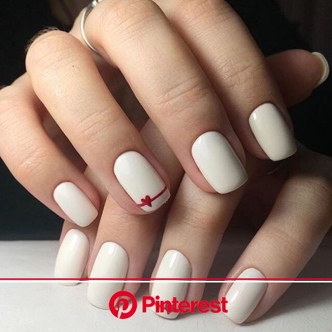 Adorable Valentine's Day Nails Suitable for the Office | Nail designs valentines, Simple acrylic nails, Simple nails
