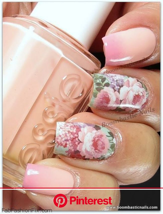 Floral nails and flower nail art inspirations for this spring | Fab Fashion Fix | Floral nail designs, Floral nails, Nail art