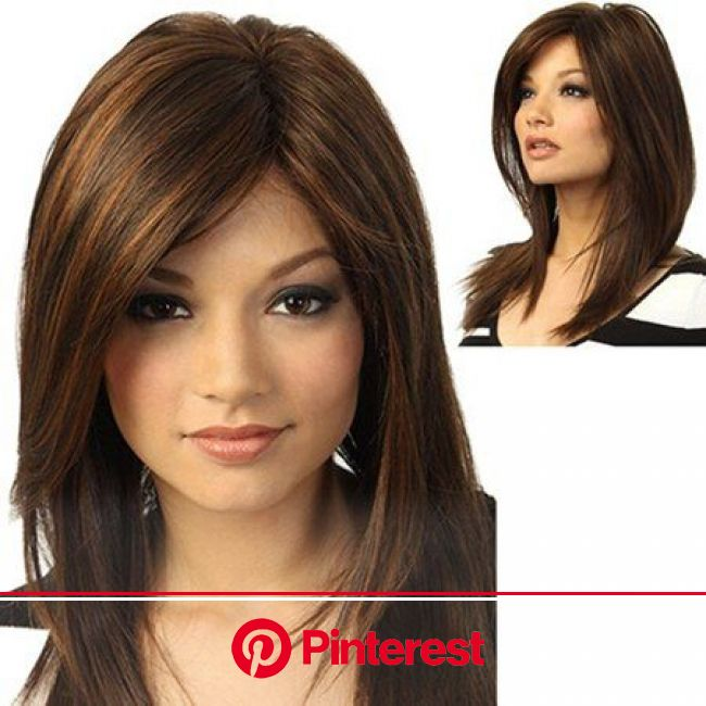 ?Follure?Brown Girl Natural Party Wig Long Full Straight Hair Fashion Synthetic Wig - Walmart.com in 2020 | Natural hair wigs, Natural human hair, Str