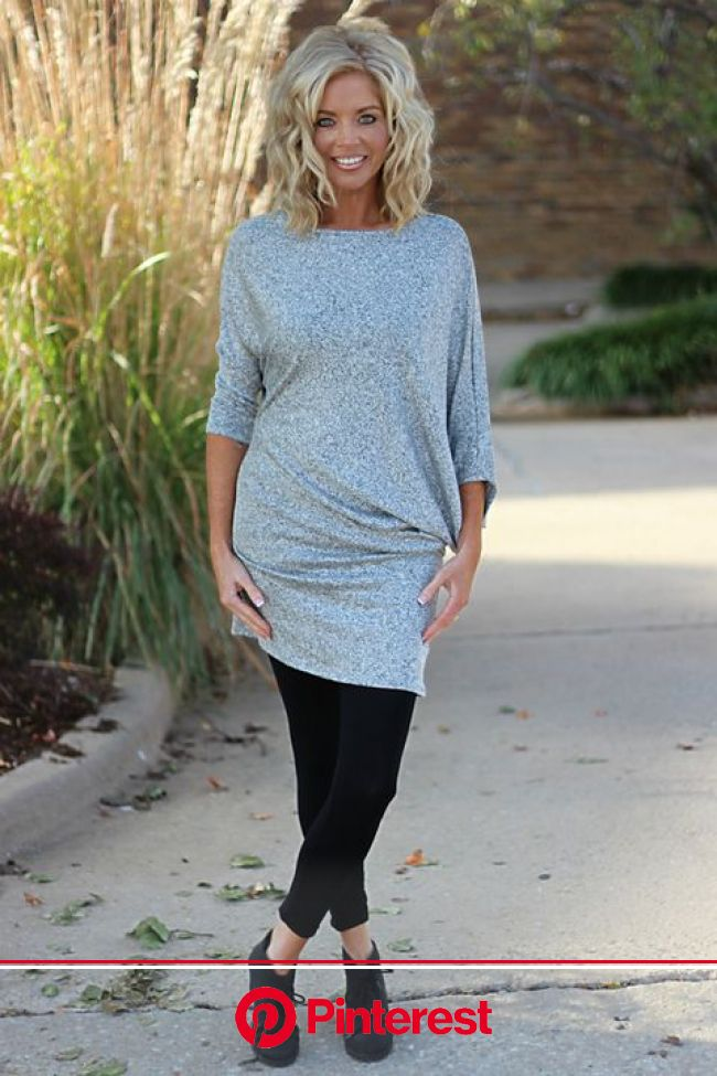 Our Slouchy & Comfy Dolman Asymmetrical Dress/Tunic is made of 65% Polyester, 32% Rayon, and 3% Span… (With images) | Trendy boutique clothing, Mi