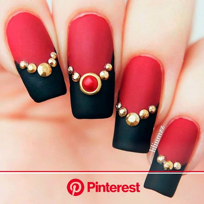 Red Nails To Inspire Your Next Manicure | NailDesignsJournal.com | Gel nail art designs, Nail art designs, Gel nail art